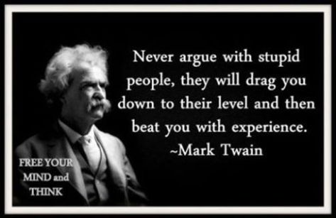 mark twain on stupid